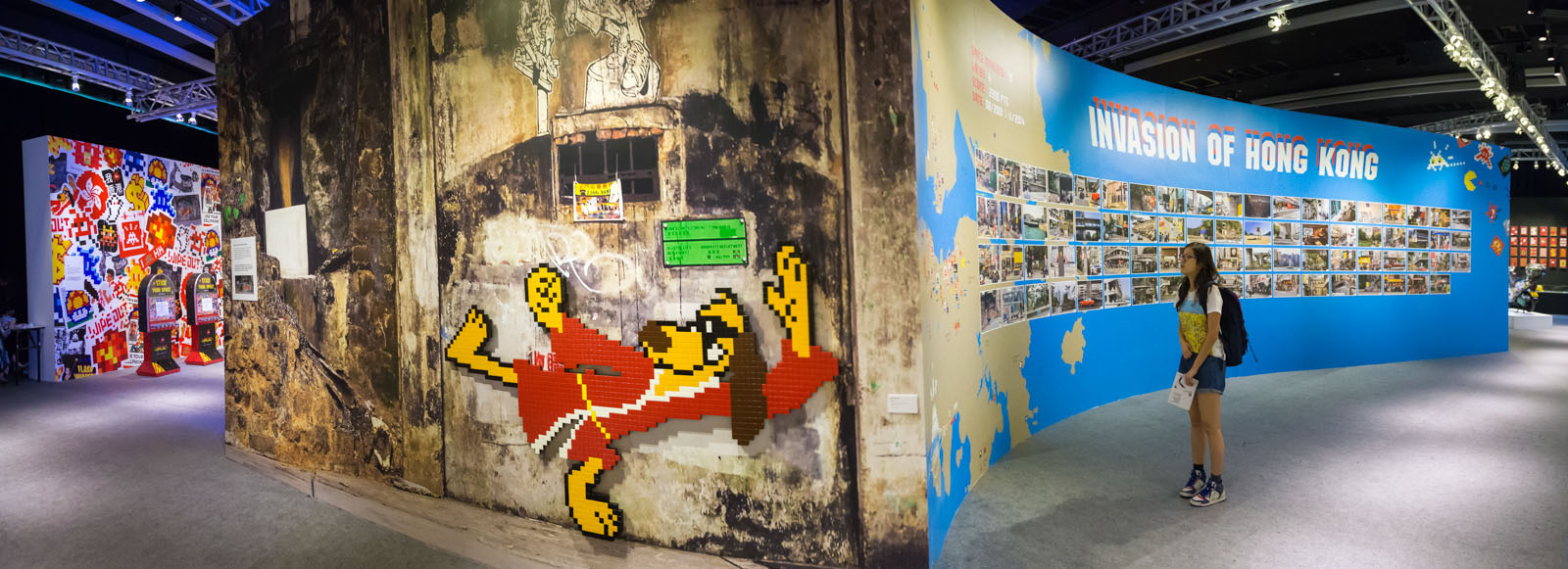 Wipe out, expo d'Invader à Hong Kong - Mai 2015