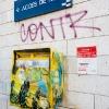 Pochoirs de C215 sur les murs de Vitry-sur-Seine