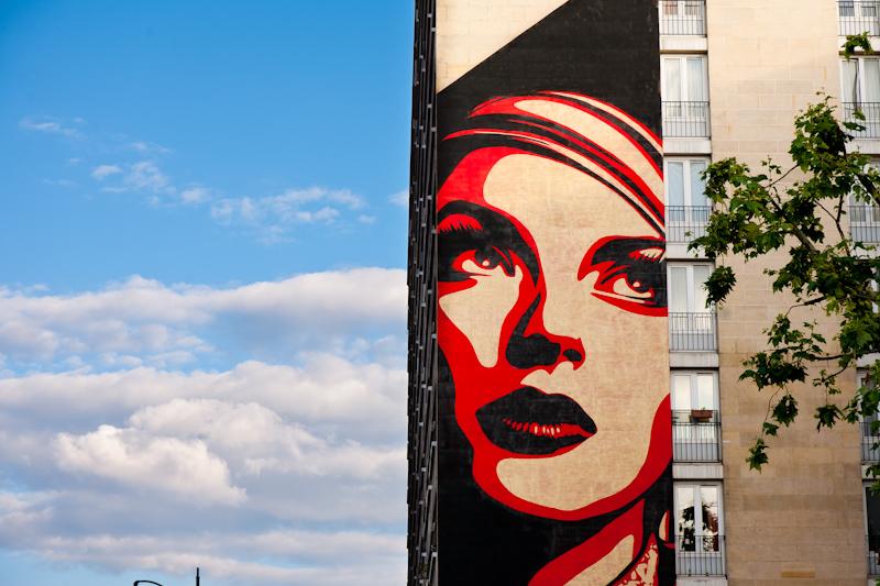 Shepard Fairey - Rue Jeanne d'Arc 13è - Juin 2012