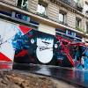 Graffitis sur les murs de Paris