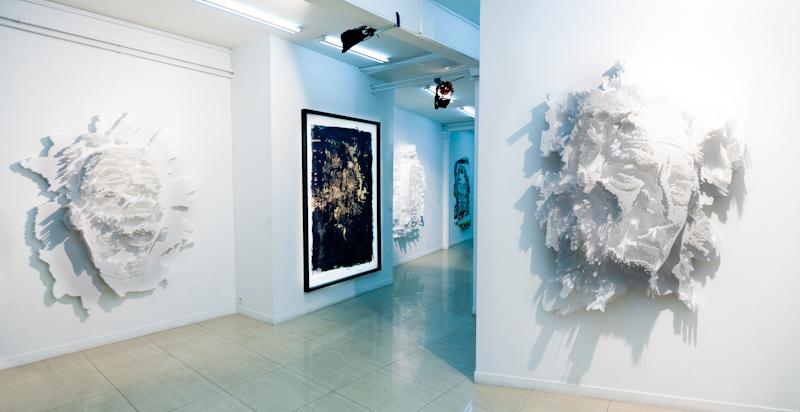 Vhils à la galerie Magda Danysz - Juillet 2012