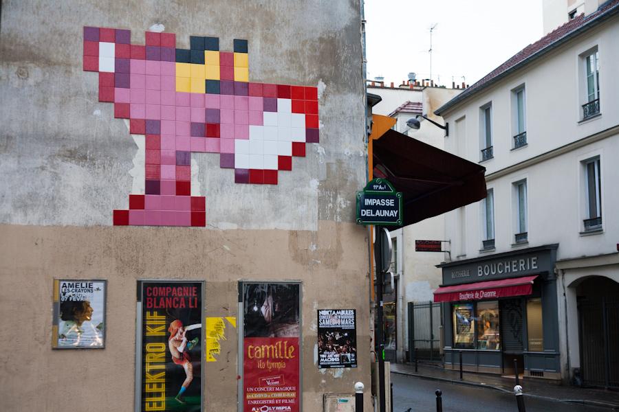 La Panthère rose par Invader - février 2013