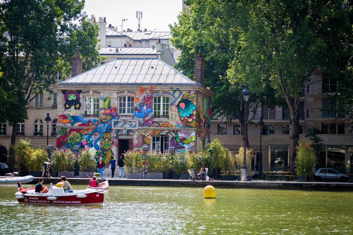 Alëxone et Supakitch sur le canal - Paris - Mai 2014
