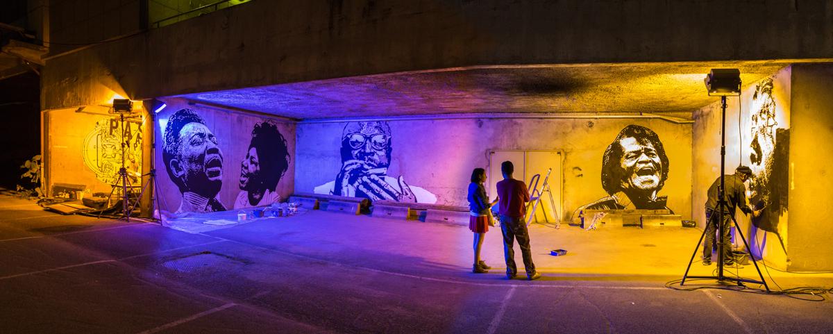 Jef Aérosol à la Nuit Blanche - Octobre 2014