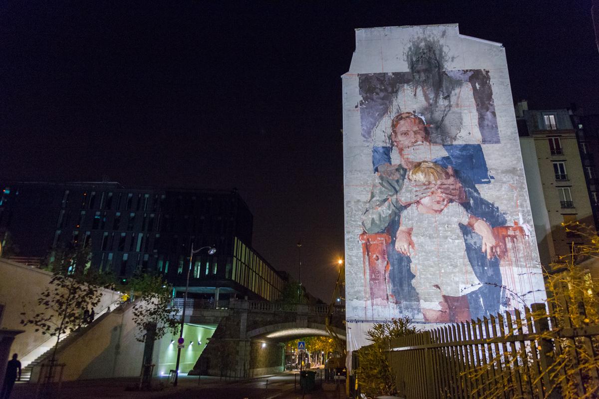 Jef Aérosol et DAN23 à la Nuit Blanche - Octobre 2014