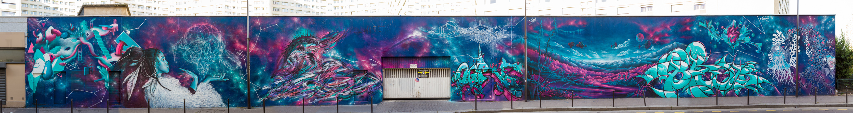 Fresque rue des Maronites, Paris 20è - Novembre 2014