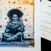La Petite Lectrice de Jef Aérosol, à partir d'une de mes photos.