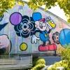 Fresque géante de Speedy Graphito à Evry