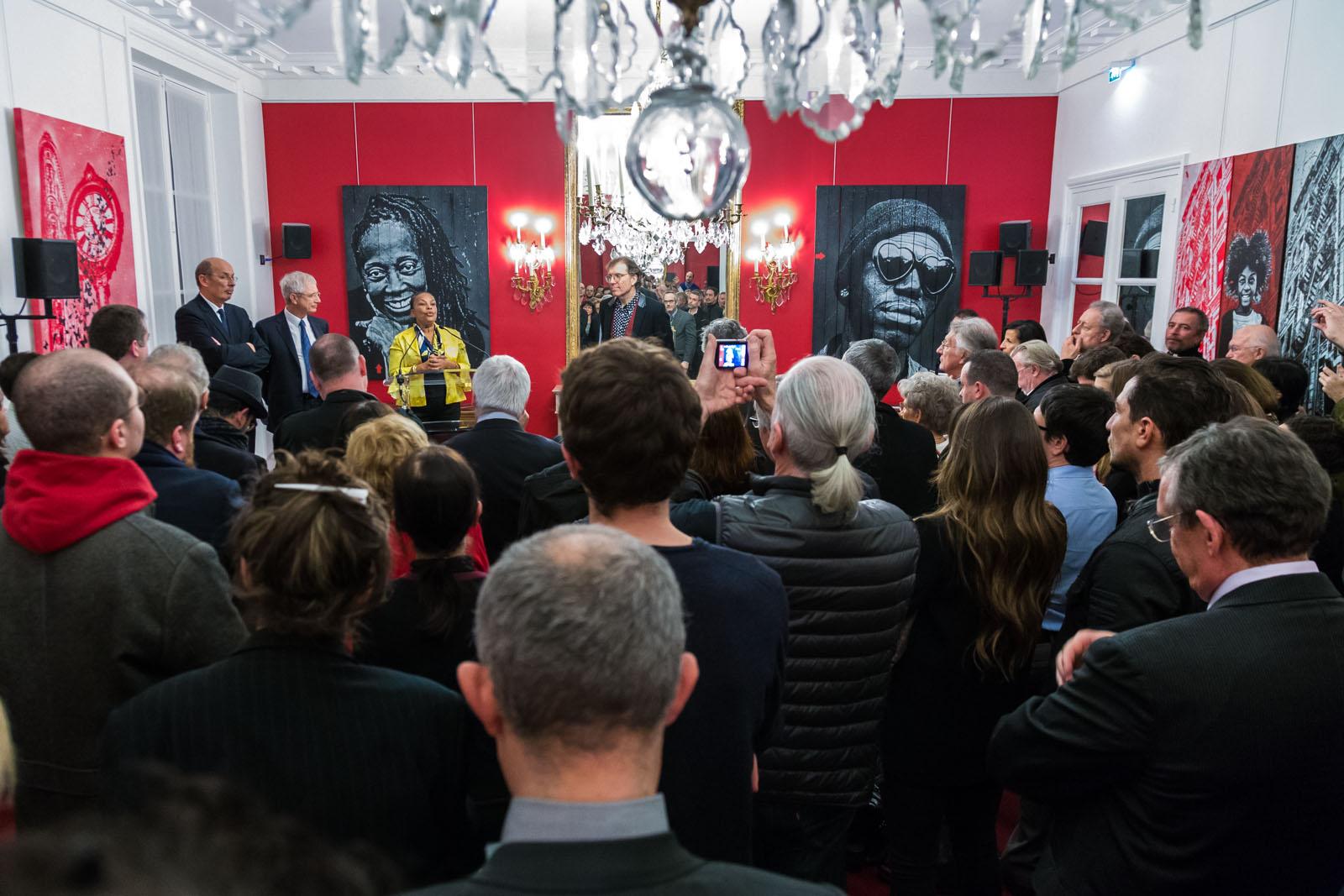 Jef Aérosol au Palais Bourbon - 3 février 2016