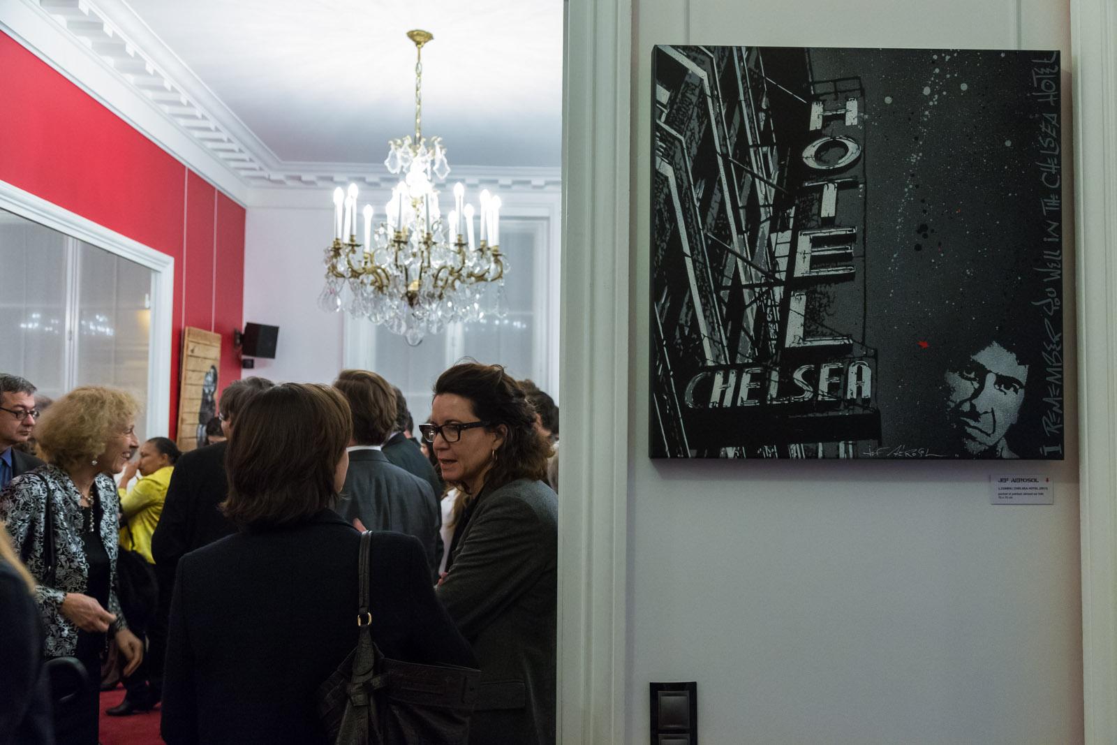 Exposition de Jef Aérosol à l'Assemblée Nationale