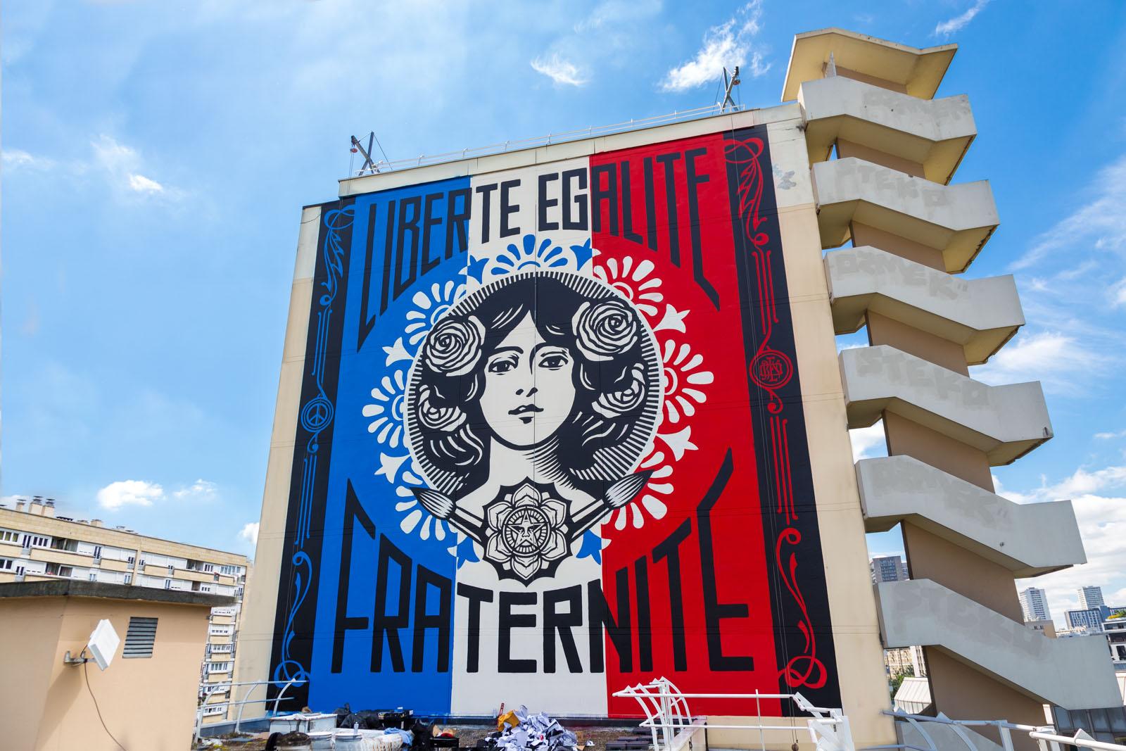 Shepard Fairey - Liberté Egalité Fraternité - Juin 2016