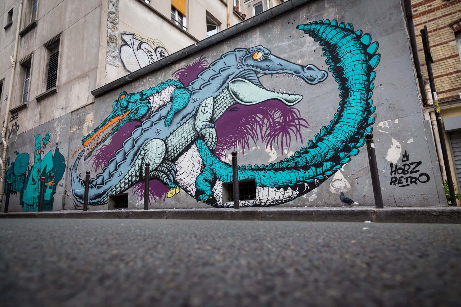 Rétro graffitist et Hobz - Septembre 2016