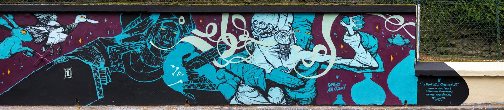 Rétro graffitism - La Princesse Grenouille - Mars 2017