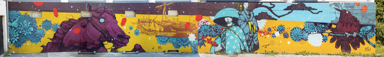 Rétro graffitism avec Art Azoï - Juin 2017