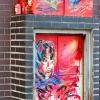 Pochoirs et affiches de C215 sur les murs de Vitry