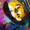 Pochoirs de C215 sur les murs de Paris