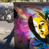 Pochoirs de C215 sur les murs de Paris
