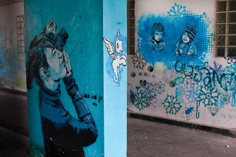 L'association C215 dans le passage rue Jean Quarré 19è