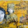 Pochoirs et affiches de C215 sur les murs de Vitry (Paris)