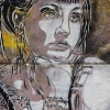 Pochoirs et affiches de C215 sur les murs de Vitry