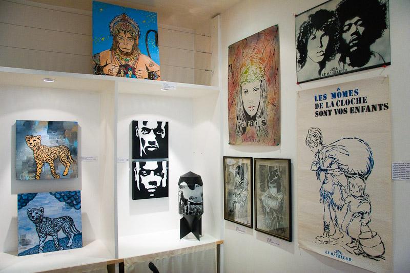 Galerie Anne Vignial à l'occasion de l'expo Stencil History X - Du 21 novembre 2007 au 6 janvier 2008