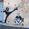 Les ballades de Jef Arosol sur les murs de Paris