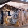 Installation de JR au Pavillon de l\'Arsenal à Paris dans le cadre de son projet