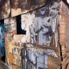 Installation de JR au Pavillon de l'Arsenal à Paris dans le cadre de son projet